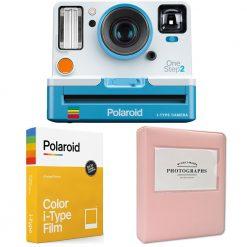 Polaroid OneStep 2 VF Summer Blue Camera   Color Film 8 Sheets   Photo Album