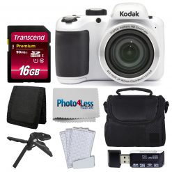 Kodak PIXPRO AZ401 Astro Zoom 16MP Digital Camera (White) +Top Value Accessories
