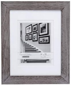 Malden International Designs 8x10/11x14  Matted Picture Frame, Gray