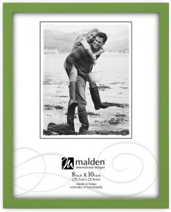 Malden International Designs Green Concept Wood Picture Frame,  8x10