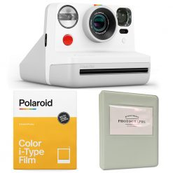 Polaroid NOW i-Type Camera - White | Color Film | Album | Cloth - Complete Kit!