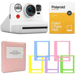 Polaroid NOW i-Type Camera - White | Color Film | Album | Frames - Complete Kit!