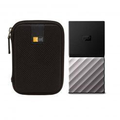 WD 1TB My Passport USB 3.1 Gen 2 External SSD + Compact Hard Drive Case