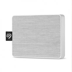 Seagate 1TB One Touch USB 3.0 External SSD (White Woven Fabric)