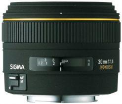Sigma Wide Angle 30mm f/1.4 EX DC Autofocus Lens for Minolta/Sony Digital SLR