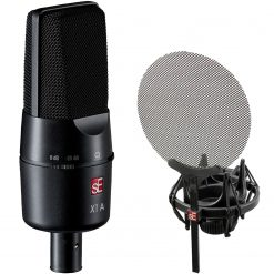 sE Electronics X1-A X1 Series Condenser Microphone and Clip + sE Electronics ISOLATION-PACK Shockmount and Pop Filter for X1 Series and SE2200