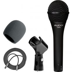 Audix OM6 Hyper-Cardioid Handheld Dynamic Vocal Microphone + On Stage Foam Windscreen for Handheld Microphones + XLR Mic Cable XLR-M to XLR-F