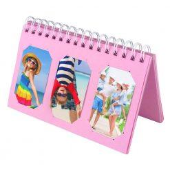 Caiul Scrapbooking Album For Fuji Instax Photos Holds 60 Prints Pink