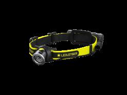 LEDLENSER IH8R Rechargeable LED Headlamp with Rear Light, 600 Lumens, Black & Yellow (Box)