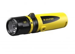 LEDLENSER EX7 Focusing Flashlight, High Power LED, 200 Lumens, Black & Yellow (Box)
