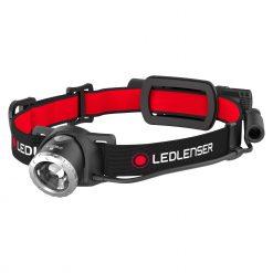 LEDLENSER H8R Powerful Headlamp, High Power LED, 600 Lumens, Black & Red (Blister)