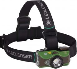 LEDLENSER MH8 Rechargeable Headlamp 600 Lumens – Green (Peg Window Box)