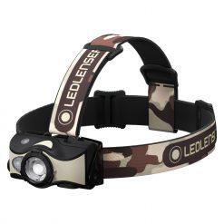 LEDLENSER MH8 Rechargeable Headlamp 600 Lumens – Camo (Peg Window Box)