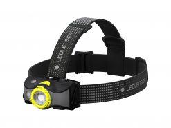 LEDLENSER MH7 Rechargeable Headlamp, High Power LED, 600 Lumens – Black & Yellow (Peg Window Box)