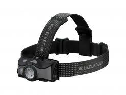 LEDLENSER MH7 Rechargeable Headlamp, High Power LED, 600 Lumens – Black & Gray (Peg Window Box)