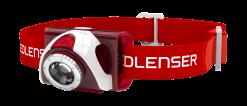 LEDLENSER SEO5.2 LED Headlamp, 180 Lumens with Red Light Mode, Red (Box)