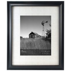 Malden International Designs Barnside Portrait Gallery Matted Picture Frame, 11x14/16x20, Black (2134-14)