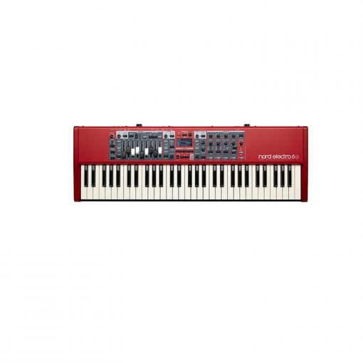 Nord 61 Note Electro 6D 61 key semi-weighted  action, with nine physical drawbars for the tone wheel organ purists