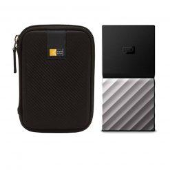 WD 256GB My Passport USB 3.1 Gen 2 External SSD + Case