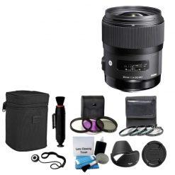 Sigma 340306 35mm F1.4 DG HSM Lens for Nikon + 4 Pec Close-Up & UV CPL Full Kit