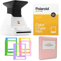 Polariod Lab Instant Photo Printer + Polaroid Color Film + Photo Album + Cloth