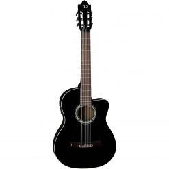 Dean Guitars 6 String Dean Espana Full Size CAW Acoustic-Electric Guitar-Classic Black (CAE CBK)
