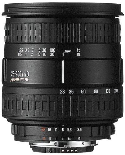 Sigma 28-200mm F3.5-5.6 Aspherical Hyperzoom Macro Lens for Sony Alpha and Konica Minolta SLR Cameras