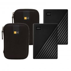 2 WD 4TB My Passport Portable External Hard Drive, Black  + 2 Cases