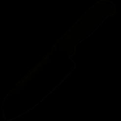Spyderco Santoku Kichen Knife with Lightweight Black Handle - Plain Edge - K08PBK