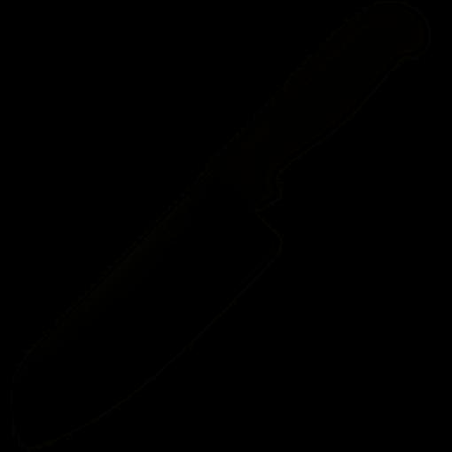 Spyderco Santoku Kichen Knife with Lightweight Black Handle – Plain Edge – K08PBK
