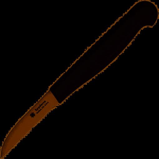 Spyderco Mini Paring Knife with Lightweight Black Handle – Plain Edge – K09PBK