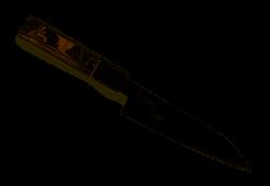 Spyderco Itamae Funayuki (6.31in.) Kitchen Knife with SUS 410 Super Blue Steel  Blade and Burl G-10 Handle - Plain Edge - K16GPBNBK
