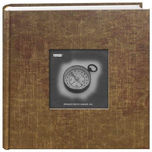 Pioneer Photo Album 4″X6″, 2-Up, 200 Pocket Map Frame Bi Directional Memo Album World Map