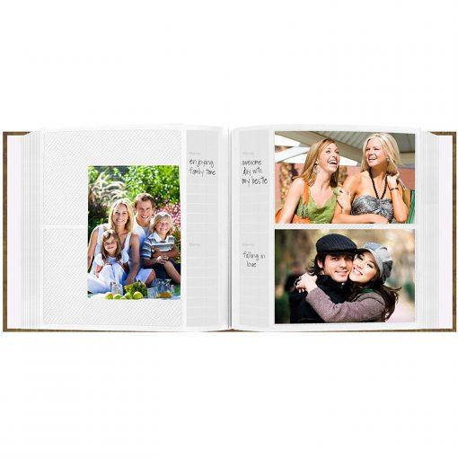 "Pioneer Photo Album 4""X6"", 2-Up, 200 Pocket Map Frame Bi Directional Memo Album World Map"