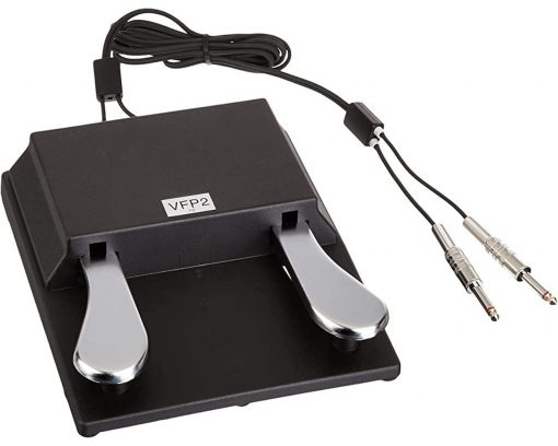 Studiologic VFP-2-15-B Double Piano-Style Sustain Pedal, PC1/SP Series, Closed Polarity, 1/4-Inch Stereo Plug
