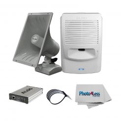 "Algo 8180 IP Paging and SIP Loud Ringer Audio Alerter+ Algo 8186 SIP Paging Speaker and IP Loud Ringer+Algo 8301 IP Voice Paging Adapter & Bell Scheduler+ 5 8"" Black UV Resistant Zip ties+Photo"