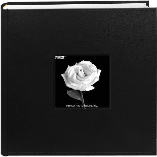 Pioneer Photo Album 4″X6″, 2-Up, 200 Pocket Sewn Leatherette Frame Bi Directional Album Black