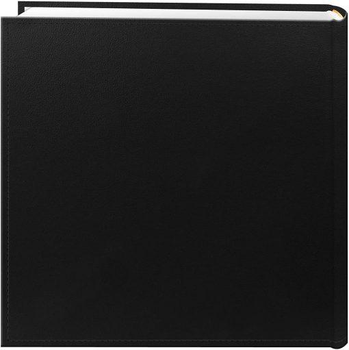 "Pioneer Photo Album 4""X6"", 2-Up, 200 Pocket Sewn Leatherette Frame Bi Directional Album Black"