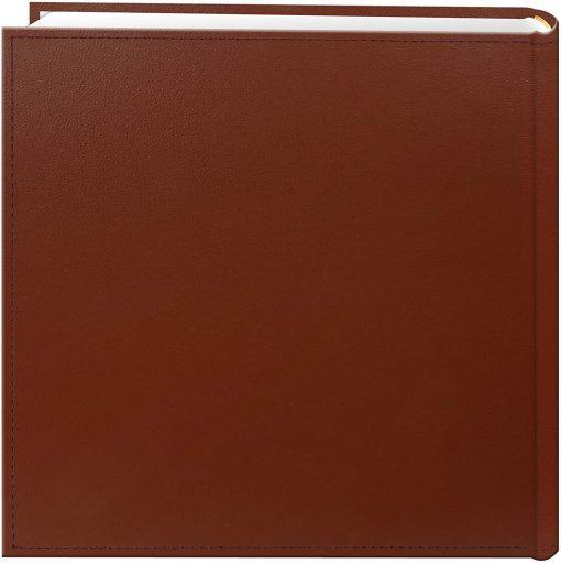 "Pioneer Photo Album 4""X6"", 2-Up, 200 Pocket Sewn Leatherette Frame Bi Directional Album Brown"