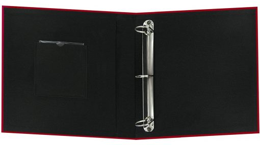 "Pioneer Photo Album 8.5""X11"" Scrapbook 3-Ring Binder Frame Fabric Red"