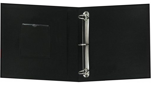 "Pioneer Photo Album 8.5""X11"" Scrapbook 3-Ring Binder Frame Fabric Black"