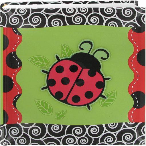 Pioneer Photo Album 4″X6″, 2-Up, 200 Pocket 3-D Applique Designer Bi Directional Memo Album Ladybug