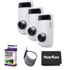 Vivotek CC9381 -HV 5MP OUtdoor Network Fisheye Camera with Night Vision+ 5 Piece Cleaning Kit+ 4 Packs of 5 Zip Ties