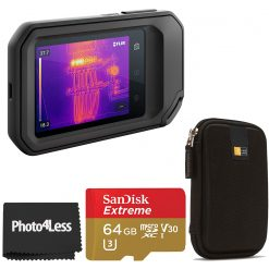 FLIR C5 Compact Thermal Camera + Black Case + Sandisk 64GB SD Card + Cloth