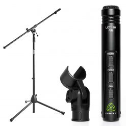 Lewitt Small-Diaphragm Condenser Microphone + On Stage MS7701B Euro Boom Mic Stand