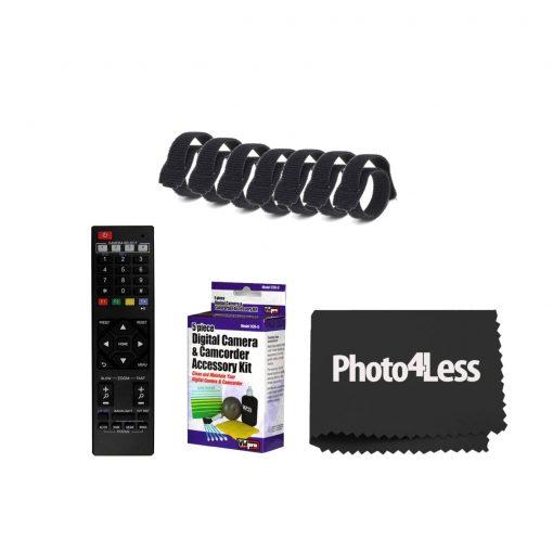 PTZOptics 12x-SDI Gen2 Live Streaming Camera (Gray)+ 5 Piece Cleaning Kit+ Rip Ties