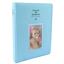 Caiul Photo Album for Fuji Instax Prints Holds 128 Photos Light Blue
