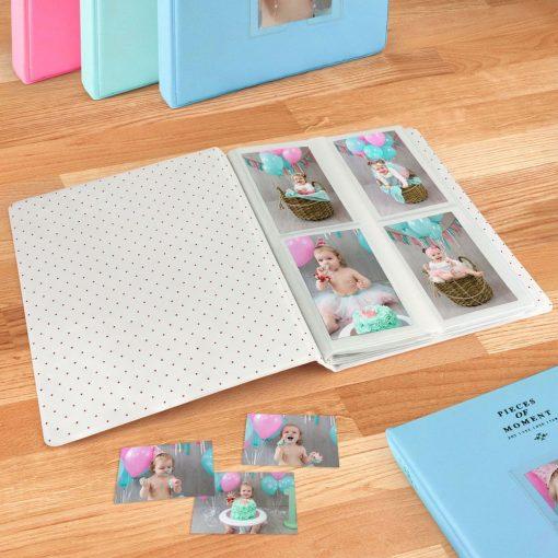 Caiul Photo Album for Fuji Instax Prints Holds 128 Photos Light Blue