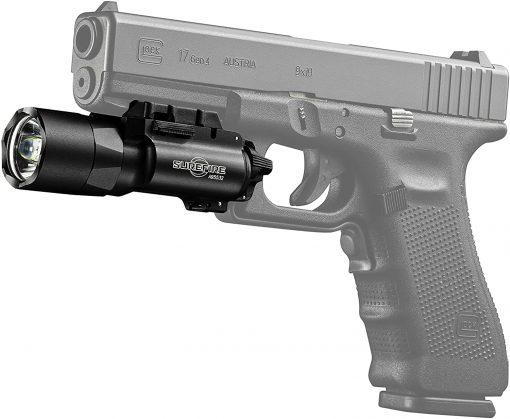 SureFire X300U-A Ultra-High-Output LED Handgun WeaponLight, 1000 Lumens - Black