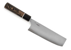 Spyderco ItamaeNakiri Kitchen Knife-SUS410 Super Blue Steel-Plain Edge-K17GPBNBK